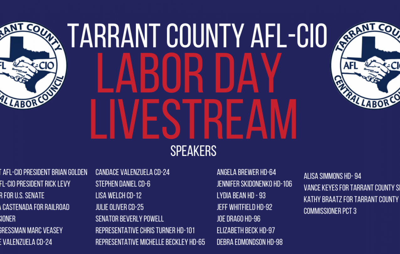 Tarrant County AFL-CIO 2020 Labor Day