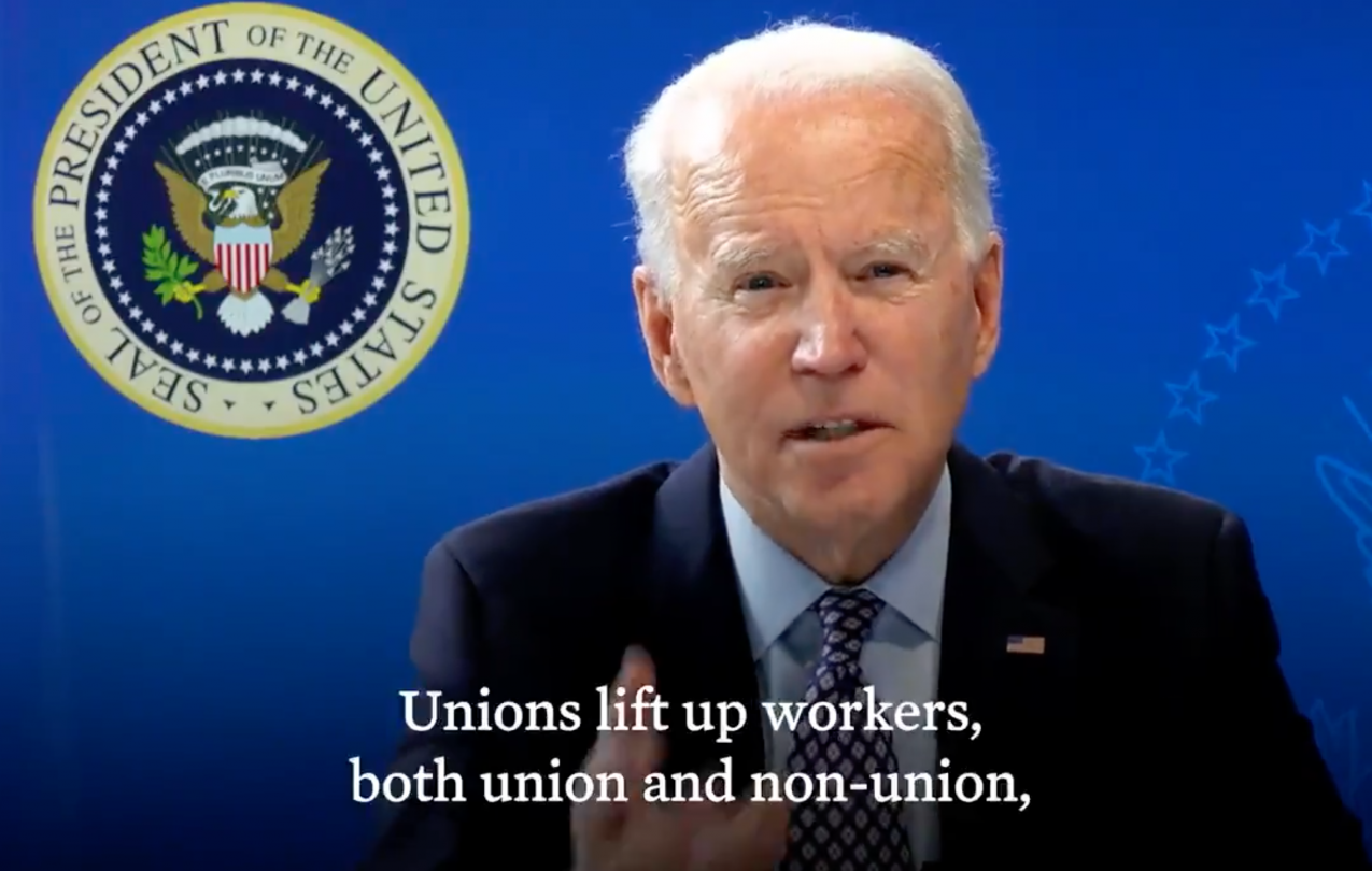 President Biden Issues Strong Defense of Worker Rights